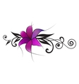 purple lily vector image