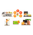 real estate icons set people moving to a new home vector image