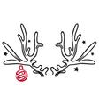 Reindeer antler vector image vector image