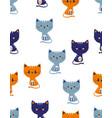 scandinavian cat pattern vector image vector image