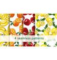 seamless fruit pattern set repeating fruit vector image