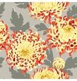Seamless japanese chrysanthemum vector image vector image