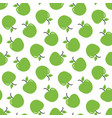 seamless pattern with fresh green apples vector image vector image