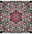 Seamless pink and brown mandala ornament template vector image vector image