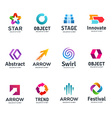 set abstract business logo icon design template vector image