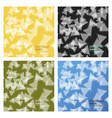 set of abstract triangle background 3d triangles vector image vector image