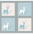 Set of Deers vector image vector image