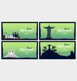 set of travel banners to brazil time to travel vector image