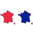 simplified map of france outline fill and stroke vector image vector image
