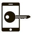 smartphone key lock icon simple style vector image vector image