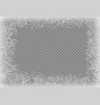 snow frame frozen window window frozen glass ice vector image vector image