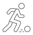 soccer player thin line icon sport and football vector image vector image