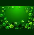 stylish happy saint patricks day greeting card vector image vector image