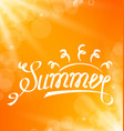 summer abstract banner with text lettering vector image vector image