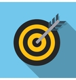 Target Flat Concept Icon vector image