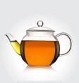 teapot of green tea vector image vector image