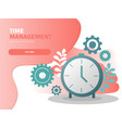 time management planning and control concept vector image