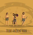 tribe ancient people in cave vector image vector image