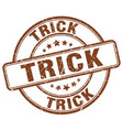 trick stamp vector image vector image