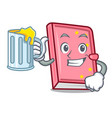 with juice diary mascot cartoon style vector image vector image