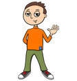 young boy character cartoon vector image vector image