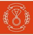 Award medal sport or business background in line vector image
