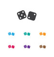 of game symbol on dice icon vector image