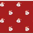 Christmas design element Jolly Santa Claus pattern vector image