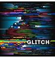 tv glitch digital background vector image