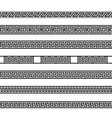 different meander ansient element patterns line vector image