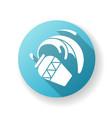 aquarius zodiac sign blue flat design long shadow vector image