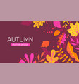 autumn banner with leaves place for text vector image vector image
