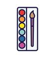 back to school paintbrush color palette artistic
