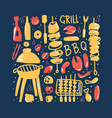 barbecue composition with text design vector image