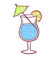beach cocktail summer drink and party beverage vector image