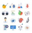 Biotechnology Colored Icon Set vector image vector image