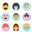 boys avatars in flat style vector image vector image