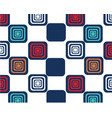 bright squares on white background memphis style vector image