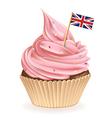 British Cupcake vector image