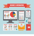 Business Infographic Documents - Concept vector image vector image