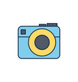 camera device summer icon line and fill vector image vector image