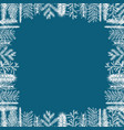 christmas framework vector image vector image