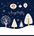 christmas with trees vector image