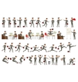 Collection of business people in vector image vector image