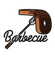 color vintage barbecue emblem vector image vector image