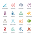 Colored Medical Specialties Icons - Set 2 vector image