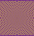 concentric optical background vector image vector image