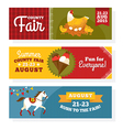 County fair vintage banners vector image vector image