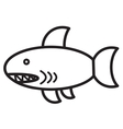 Cute animal shark - vector image
