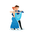 dance of delicate waltz in interesting setting vector image